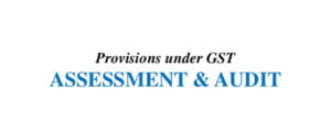 assessment and audit provisions